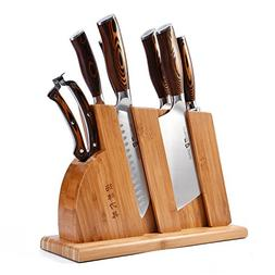 TUO Cutlery Fiery Series Kitchen Block Knife Set 8 PCS - Cle