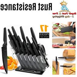 Kitchen Stainless Steel Knives Set Knife Block Acrylic Non S