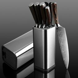 Knife Stand Block Holder Kitchen Knives Stainless Steel Cook
