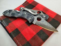Spyderco Knives Delica Exclusive Zome FRN Damascus C11ZPGYD