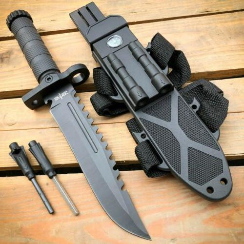 12 5 military tactical fixed blade hunting