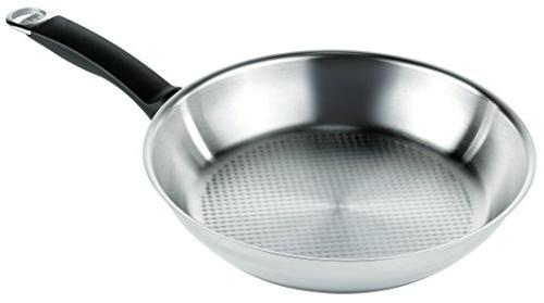 Stainless Steel 9.5-Inch Kuhn Rikon Silver Star Uncoated Frying Pan