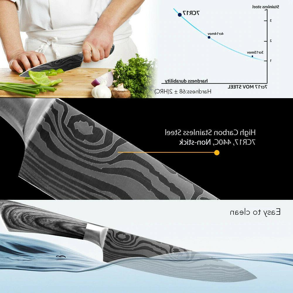 3Pcs Stainless Knife Utility Chopping Meat