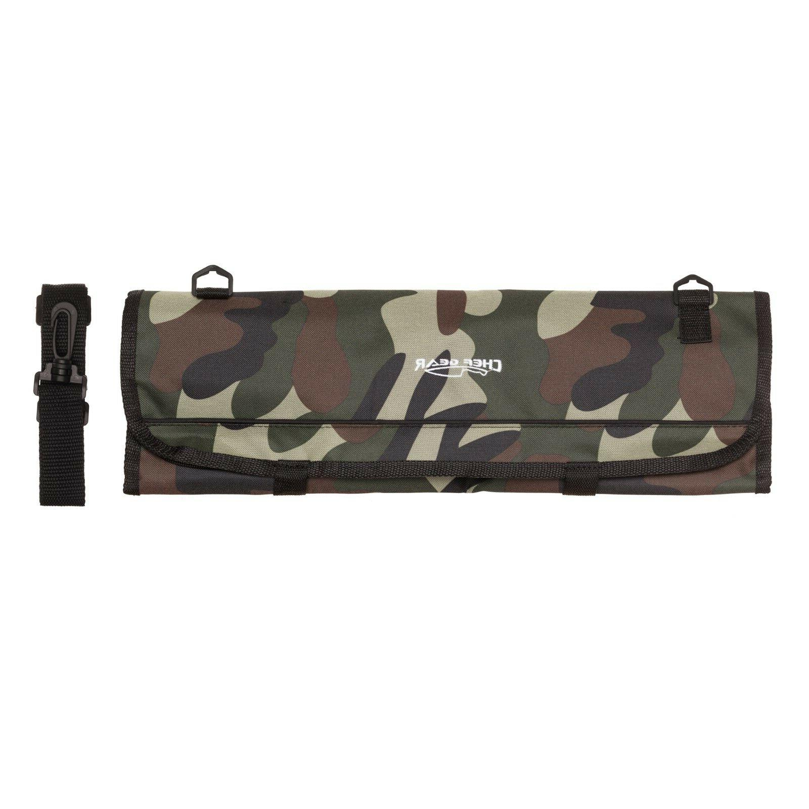 9 POCKET Chef Knife bag knife roll Camouflage Camo Chef Gear