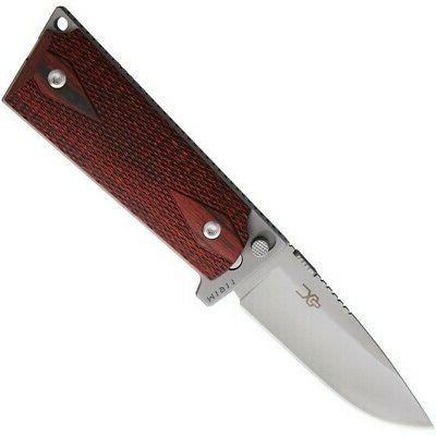 Ultimate Equipment SLR-440C Rosewood Ti Drop Point Folding K