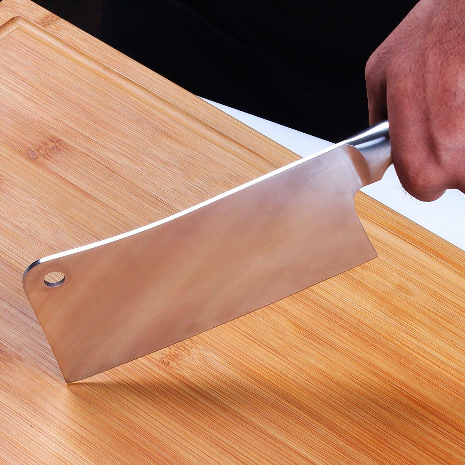 "Cleaver Knife Stainless Steel Butcher 7"" Home Utopia"