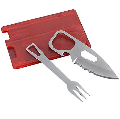 camping knife survival card credit
