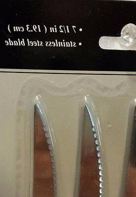 "New~Pack Norfolk Cutlery Knives 7.5"" Stainless Steel Blade Set"