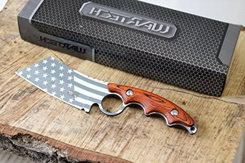 Wartech America Cleaver Fixed Hunting Knife