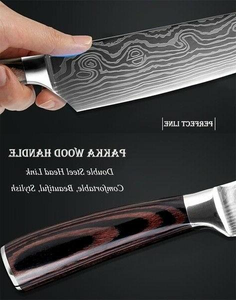 kitchen knives Laser Damascus pattern chef Cleaver