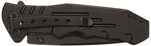 MTech USA Tactical Black Handle, 4-1/2-Inch Closed