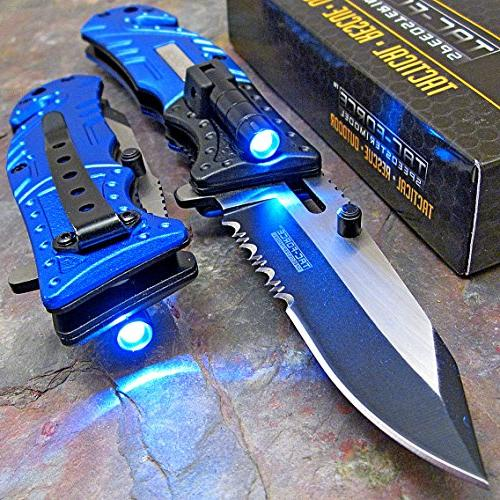 police spring assisted open flashlight