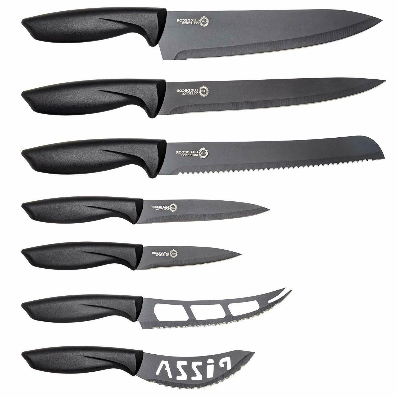 Professional Stainless Steel Kitchen Knife Set-7 Piece Cutle