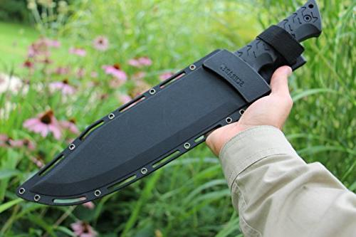 Schrade SCHF45 Leroy High Carbon Tang with and Outdoor Survival Camping and EDC