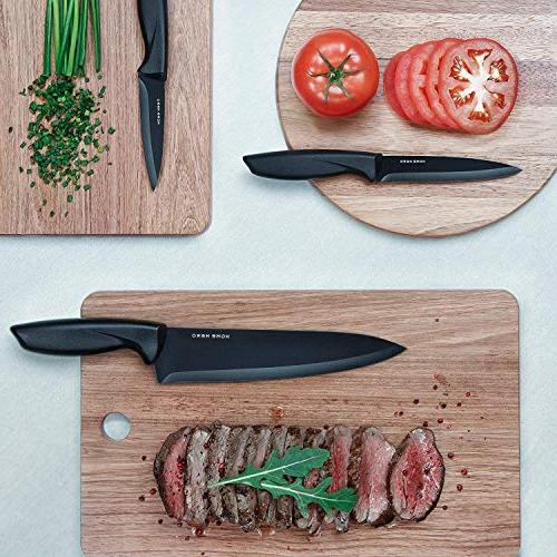 with Block - 13 Kitchen Knife with Sharpener, Steak Bonus Peeler Pizza Knife Stand - Set Gift