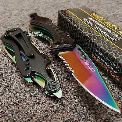 tac force spring assisted rainbow blade tactical