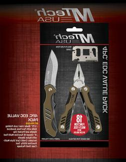 M Tech USA Limited Edition 4 PC EDC Value Gift Knife Set w/