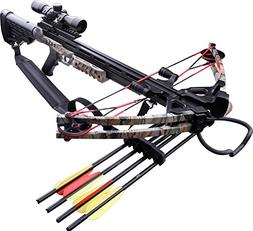 MTech USA MC-DX52GODC Crossbow Kit with Scope and 4 Arrows,