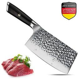 Meat Cleaver,Chinese Chef Knife,7 Inch Vegetable Kitchen Kni