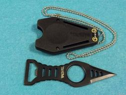 MTech USA MT-20-27B Neck Knife, Black Double-Edge Blade with