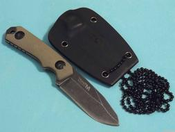 MTech USA MT-20-30 Fixed Blade Neck Knife, Drop Point Blade,