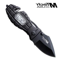 MTECH USA MT-506SF Tactical Folding Knife 3.5-Inch Closed, N