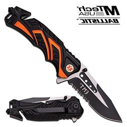 MTech USA MT-A865EMO Spring Assist Folding Knife, Two-Tone H