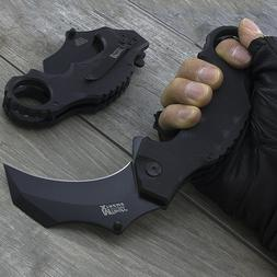 "MTECH USA 7.5"" KARAMBIT SPRING ASSISTED G10 FOLDING TACTICAL"