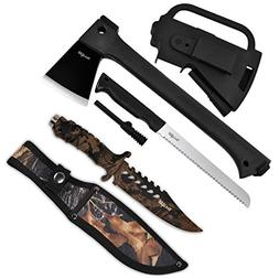 Yes4All Multi Functional Camping Axe H307 with Saw + Camo Kn