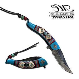 "8.5"" Native American Indian Spring Assisted Open Pocket Knif"