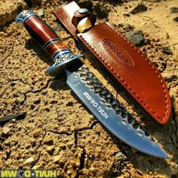 """NEW 12"""" COMBAT Hunt-Down Fixed Blade Knife with engraved Han"""
