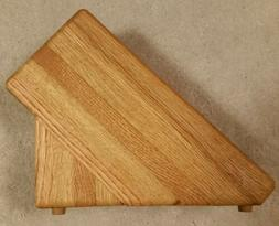 New Solid Oak Knife Block by J & L Custom Woodworking 7  Slo