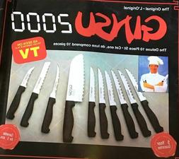 - Ginsu 2000 Deluxe 10 Piece Set Knives NEW in Box - Benefit