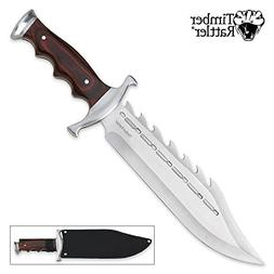 Timber Rattler Sinful Spiked Bowie Knife
