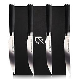 Sedge SM Series Micro-serrated Steak Knife Sets 4 PCS 5 inch