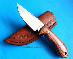 Small Skinner Caping Fixed Blade Hunting Knife with leather