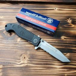 Smith & Wesson Special Tactical Tanto Combo Edge Folding Poc
