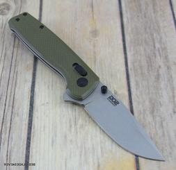 SOG TERMINUS XR GREEN G10 FOLDING KNIFE WITH POCKET CLIP RAZ