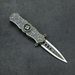 SPRING OPEN ASSISTED TACTICAL FOLDING POCKET KNIFE *FREE SHI