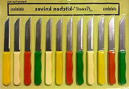 Fixwell Stainless Steel Multi Purpose Knives 12 pcs