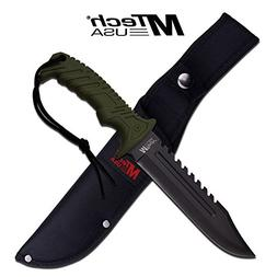 "13"" TACTICAL SURVIVAL Rambo Hunting FIXED BLADE KNIFE Army B"