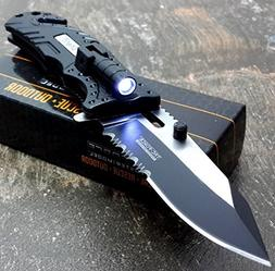 TAC-FORCE KNIVES LED LIGHT Assisted Opening Rescue Knife