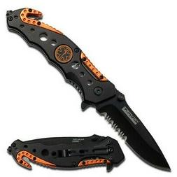 Snake Eye Tactical Spring Assisted Opening EMT EMS Orange Fo