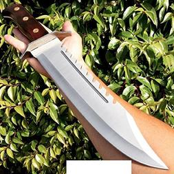 """16.5"""" FULL TANG RAMBO BOWIE MACHETE TACTICAL SURVIVAL HUNTIN"""