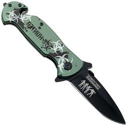 Tac Force TF-799Gz Spring Assist Knife, Closed:4.5-Inch