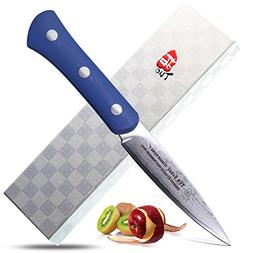 "TUO Cutlery Uchef Series Paring Knife 3.5"" Blue Handle - Mul"